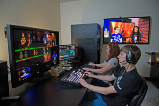 Students in Control Room