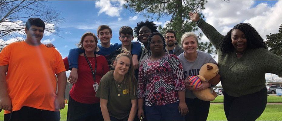 Picture of Student Activities staff and Strive students
