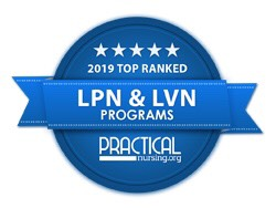 #1 Ranked LVN Program by PracticalNursing.org